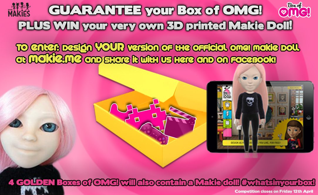 What's in YOUR box? Is it an exclusive 3D Makie Doll?!