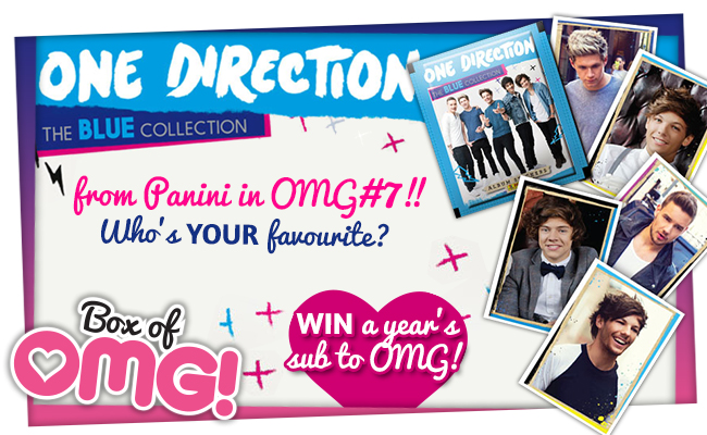 OMG! 1D stickers in OMG#7! WIN a year's sub!