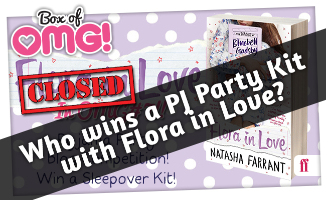 Who has WON a #TotallyOMG Pyjama Party Kit with 'Flora in Love'?