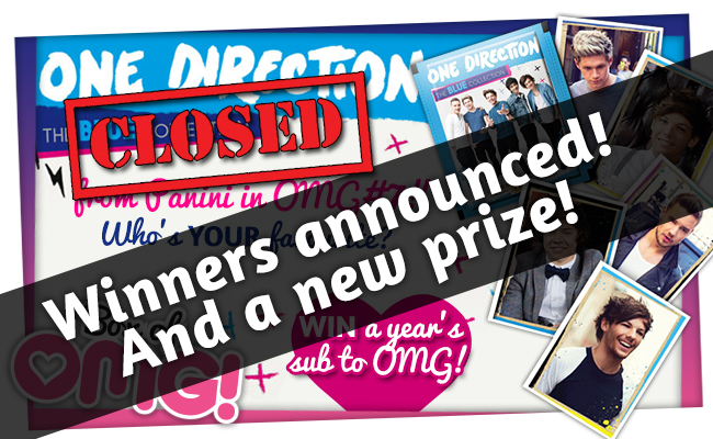 OMG #7 1D Stickers winner ANNOUNCED!!