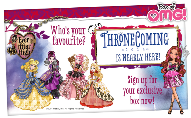 Thronecoming Box of OMG is HERE! Who is your favourite? :)