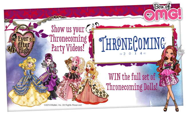 Show us your Thronecoming Party Videos for the FULL SET of Thronecoming Dolls!